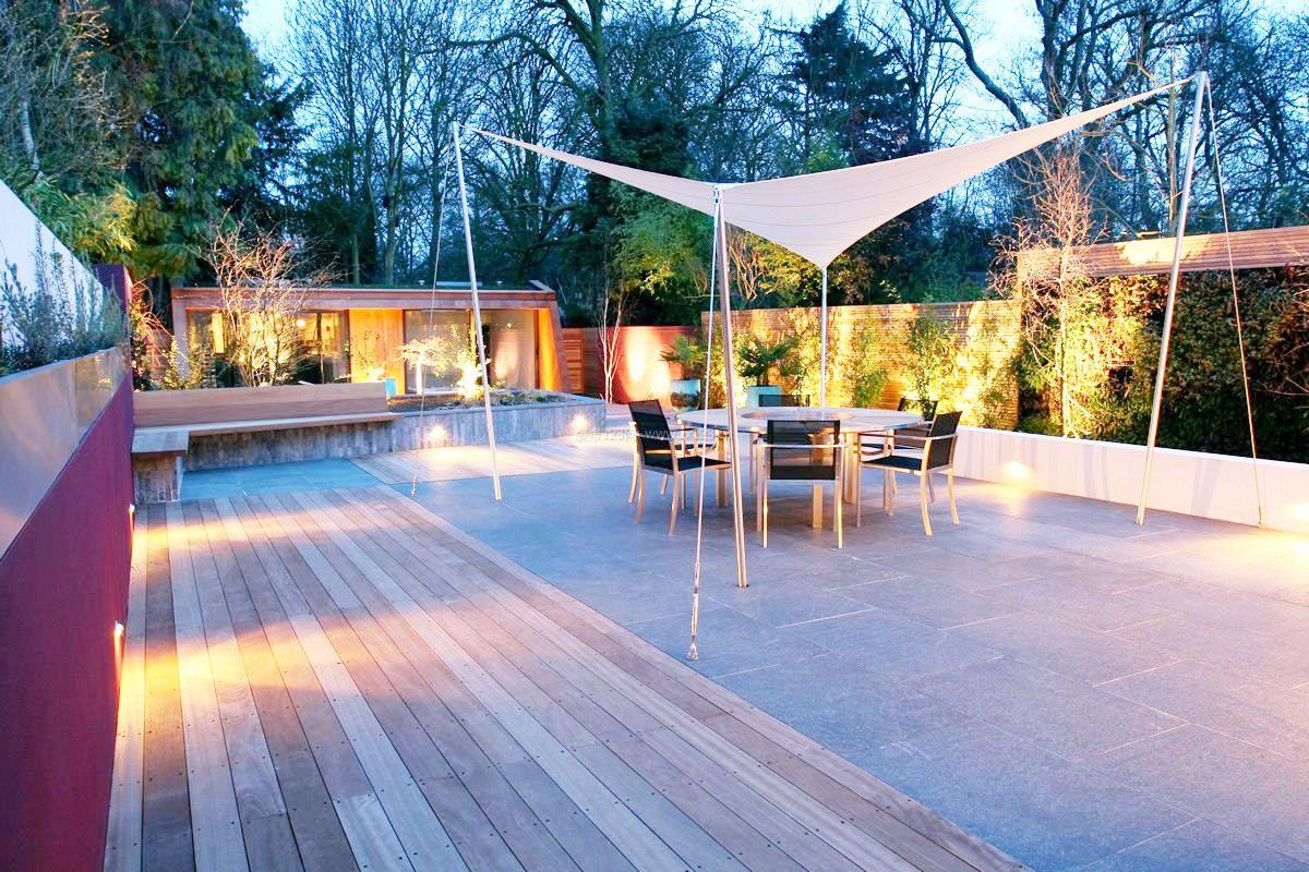 2017小型别墅庭院后花园凉亭设计效果图片大全