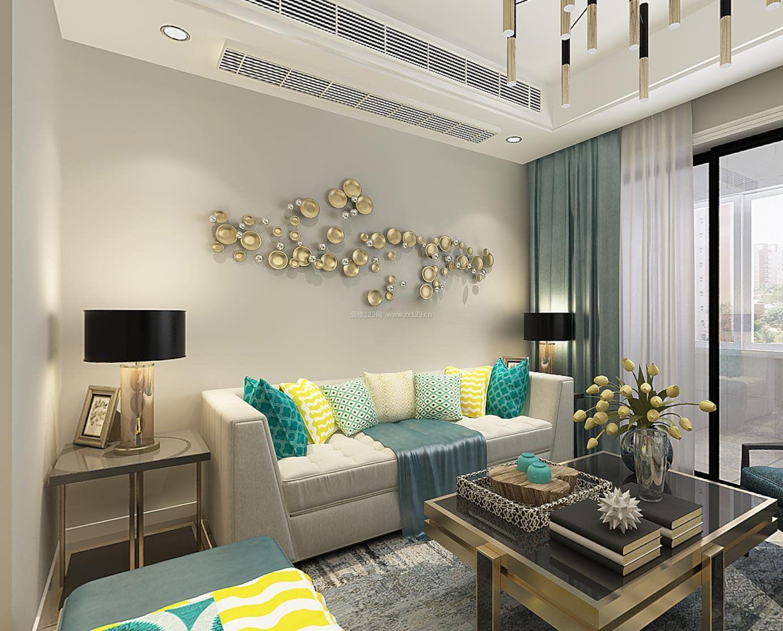 60平米小房子客厅沙发背景墙装修效果图