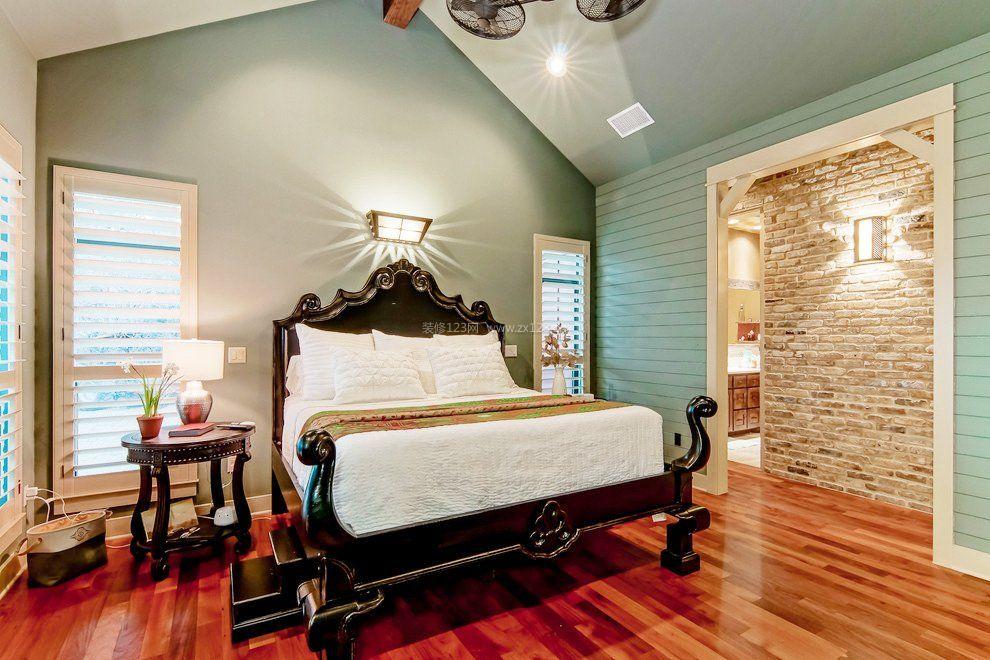 简欧风格斜顶卧室装修效果图大全