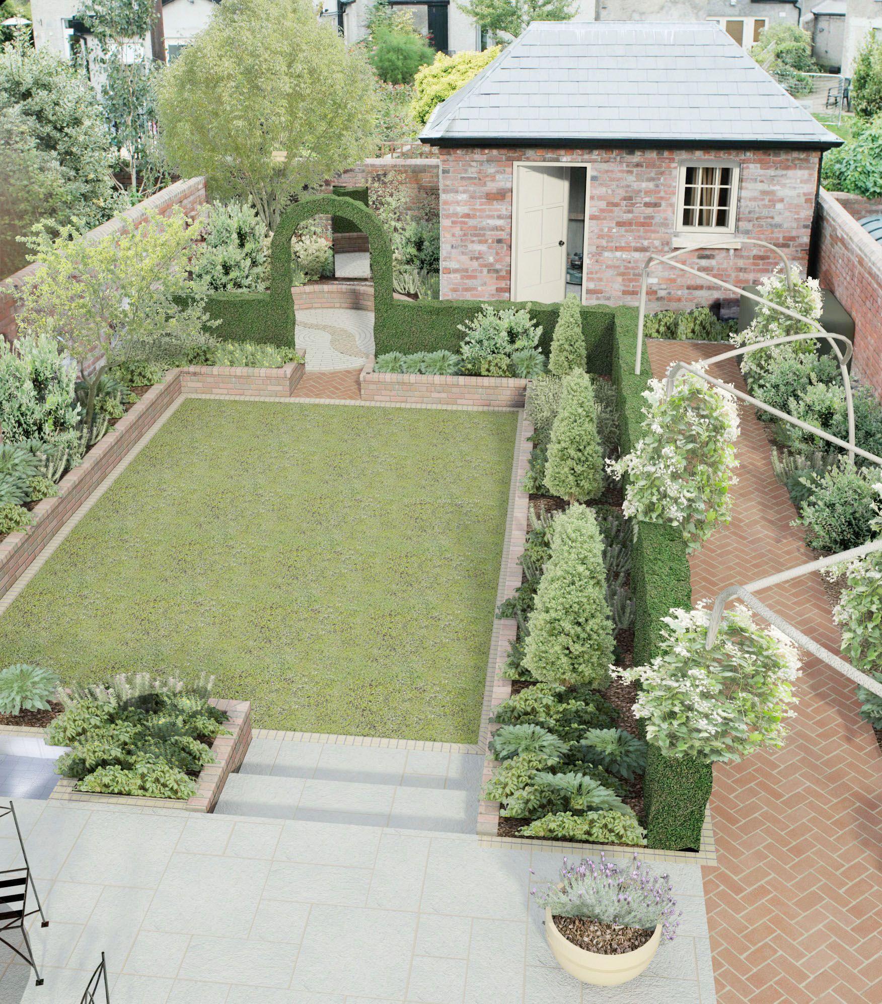 农村小型别墅后花园设计户型效果图