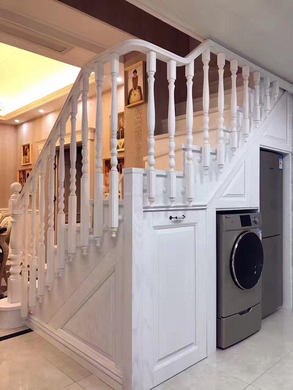 欧式楼梯仓库复式室内风格装修设计效果图_装地下室做别墅别墅图片