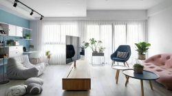 北歐簡約風格大客廳裝修效果圖片