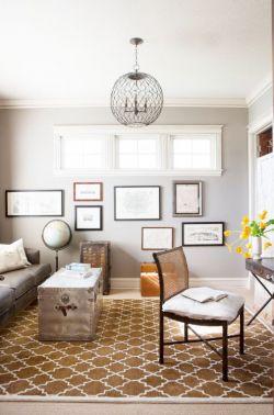 小客厅灰白色背景墙面装修效果图
