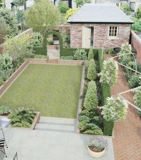 2017小型别墅庭院设计效果图