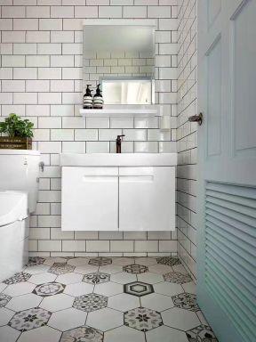 2017北欧风格白色整体厨房装修效果图