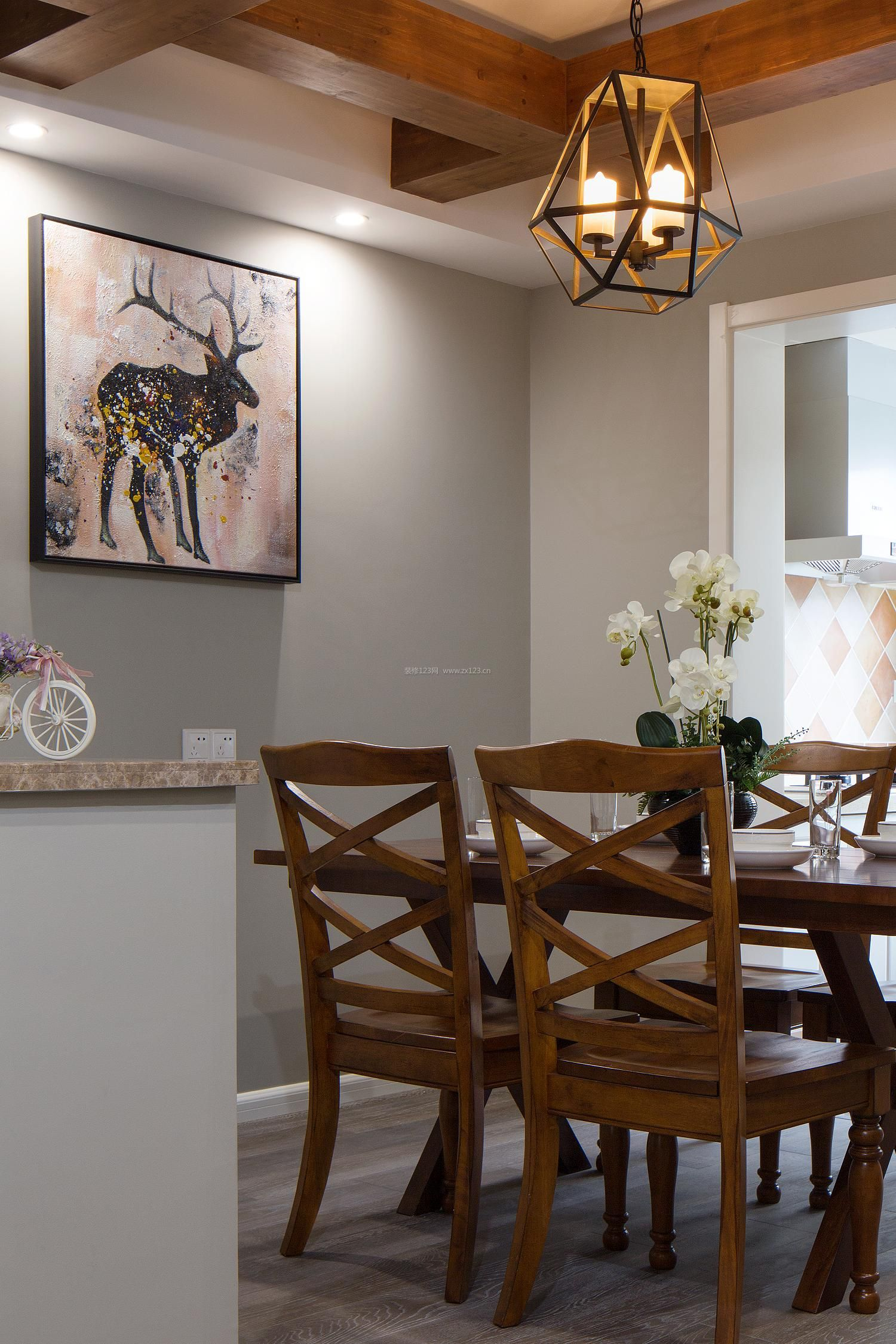 武侯区玉林品上简约美式三居软装完实拍--蒂凡尼的早餐图片