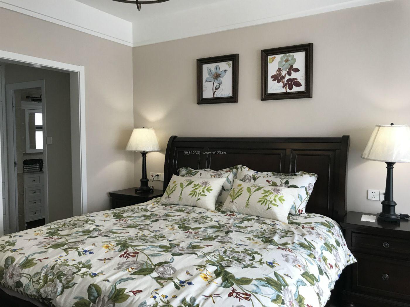 美式简约风格主卧室装修效果图片图片