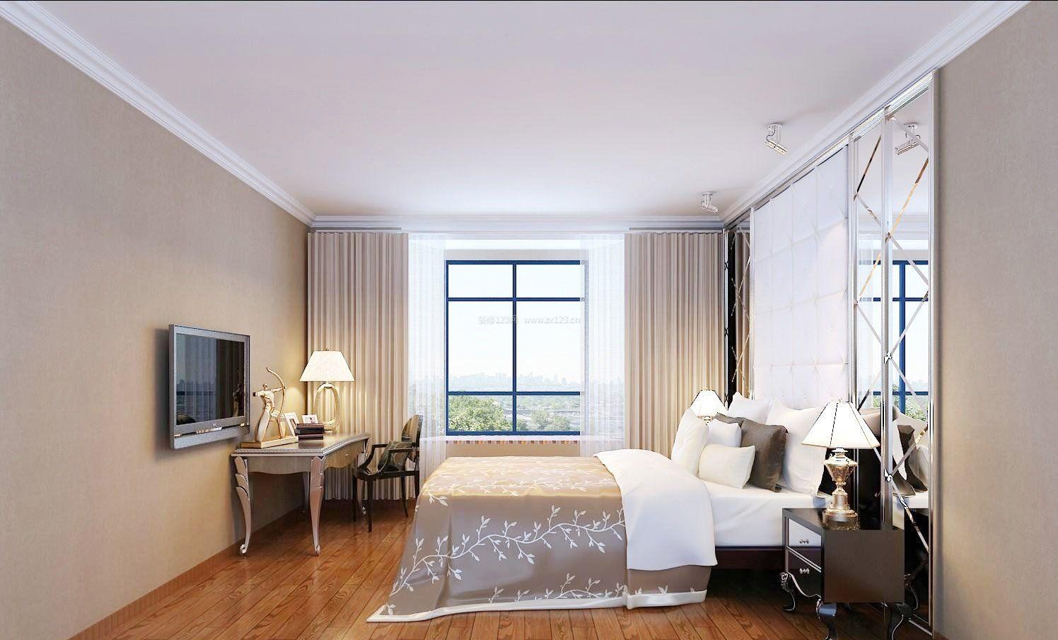 现代简约风格男士房间装修装饰效果图