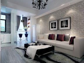 簡約小戶型客廳裝修效果圖 墻紙背景墻裝修效果圖