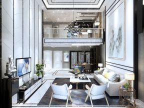 現代簡約家裝圖片 躍層客廳裝修效果圖