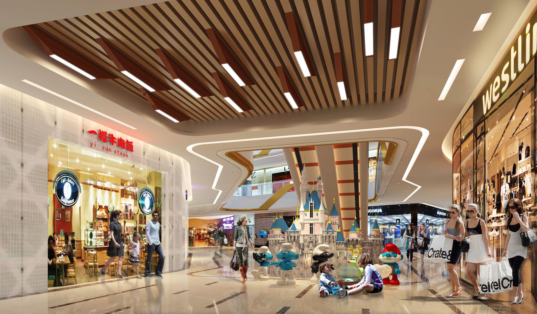 天霸设计主题式商场装修设计效果图互动性灯光设计欣赏图片