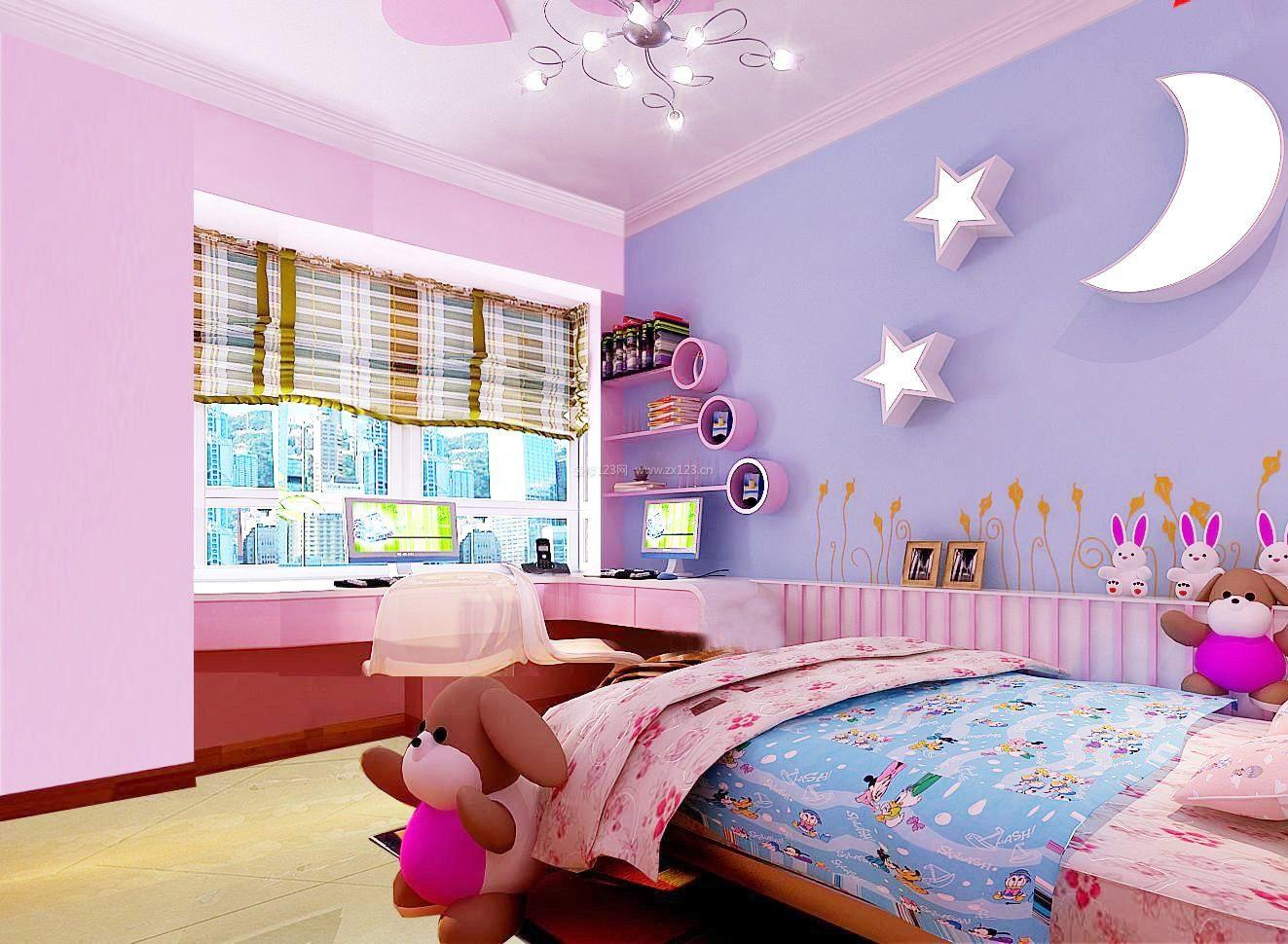 儿童房墙壁设计装修效果图大全图片