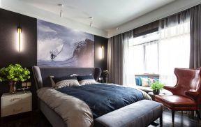 住房装修效果图 卧室窗帘装修效果图