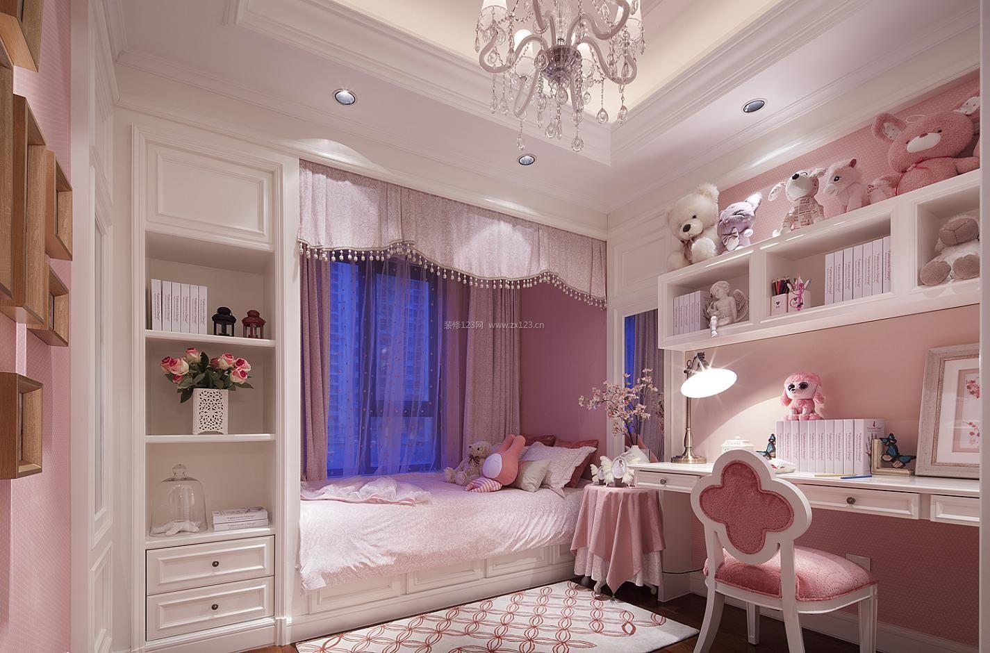欧式别墅卧室阳台榻榻米床装修效果图