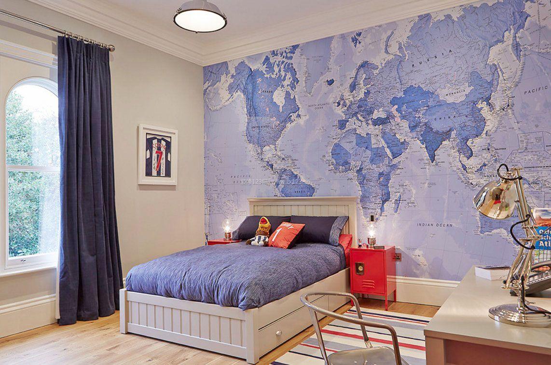 长方形的男生卧室设计摆放床图