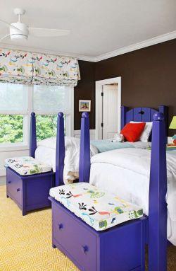 儿童卧室床尾柜装修效果图片大全集