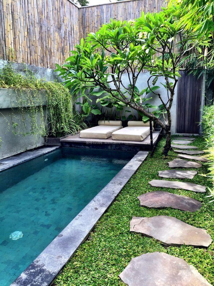 15平米别墅花园游泳池设计图