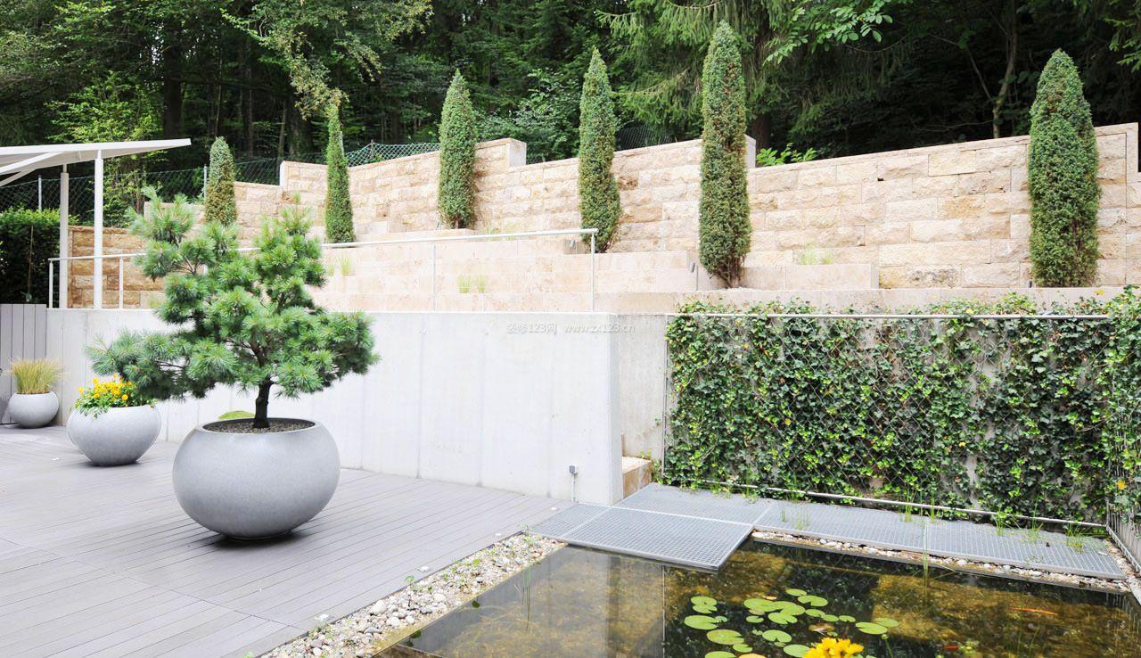 15平米别墅花园设计花卉盆景图片图