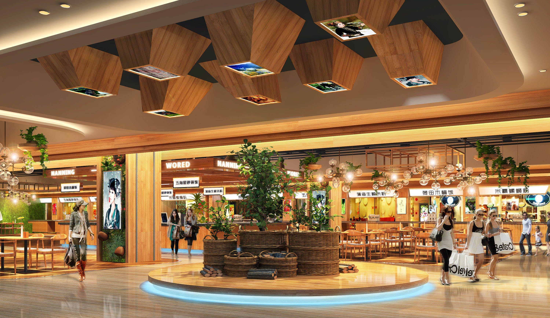 大型商场小吃店装修效果图