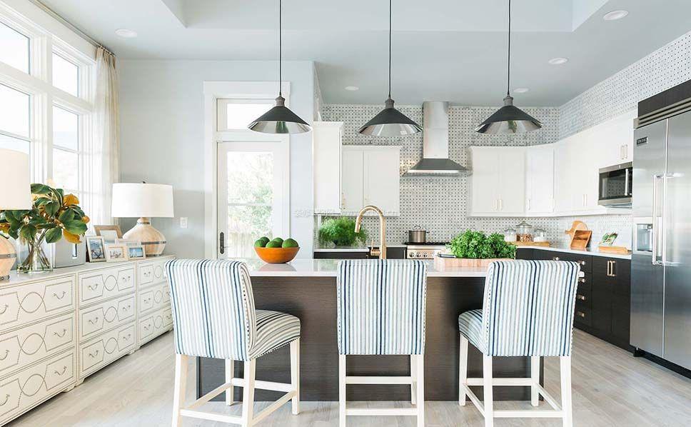 温州房子厨房吧台装修效果图片
