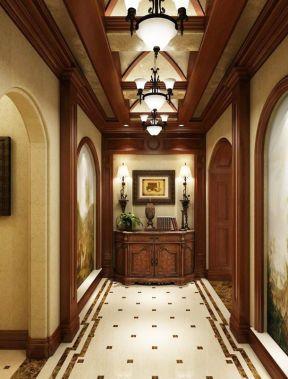 2017别墅客厅过道木地板贴图-装修123网效果图大全