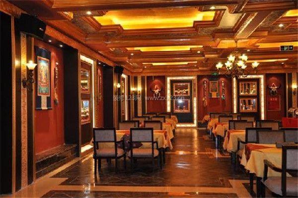 藏式风格装修餐厅设计效果图