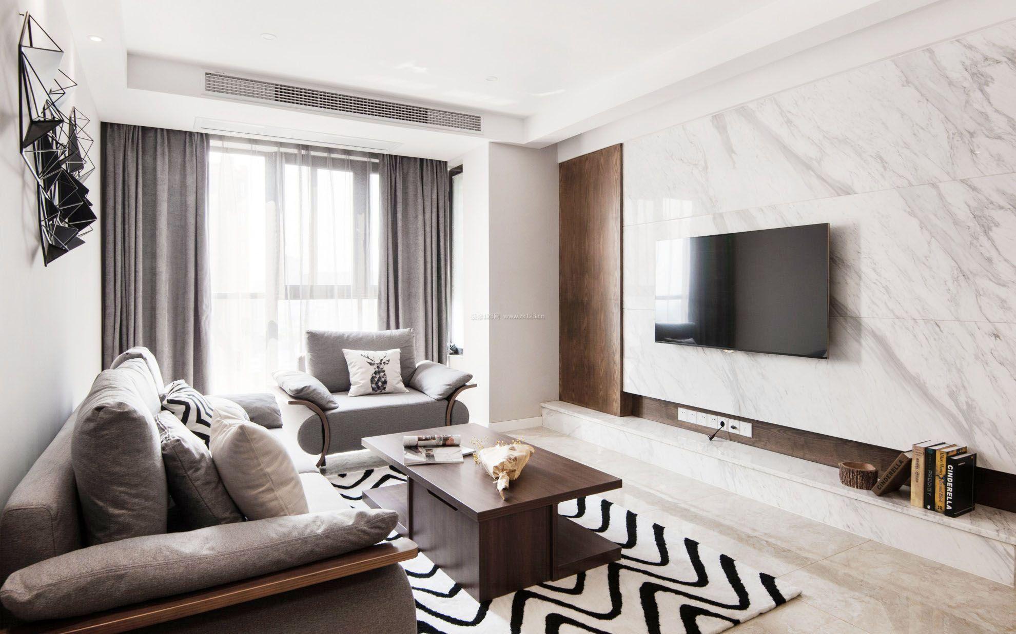家装现代风格最流行影视墙效果图_装修123效果图