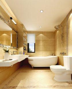简欧风格卫生间白色浴缸装修效果图