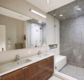 小平米卫生间浴室柜装修效果图