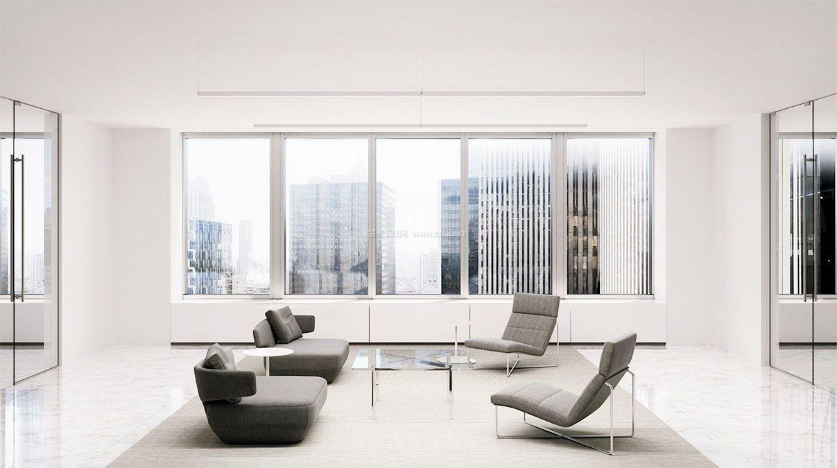 2017现代简约客厅室内玻璃房装饰效果图_装修图片