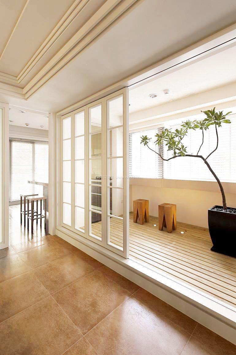 家装效果图 阳台 小户阳台推拉门装修效果图大全 提供者