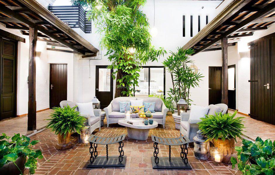 现代别墅仿古图案最全庭院设计图片