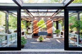 室內玻璃房效果圖 室內花園裝修效果圖