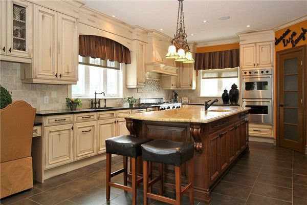 开放式厨房装修橱柜设计效果图图片