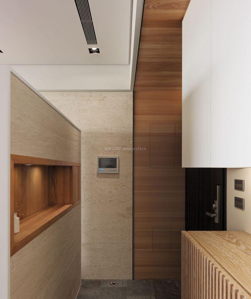 房屋室内玄关鞋柜设计装修效果图片2017