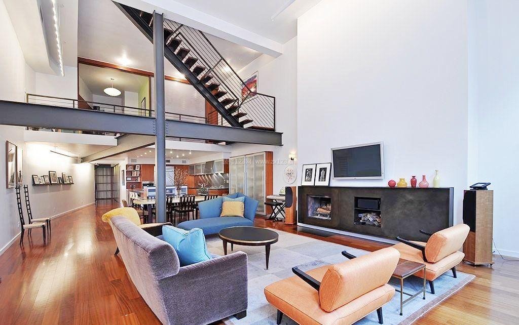 现代时尚风格复式楼装修效果图大全图片图片