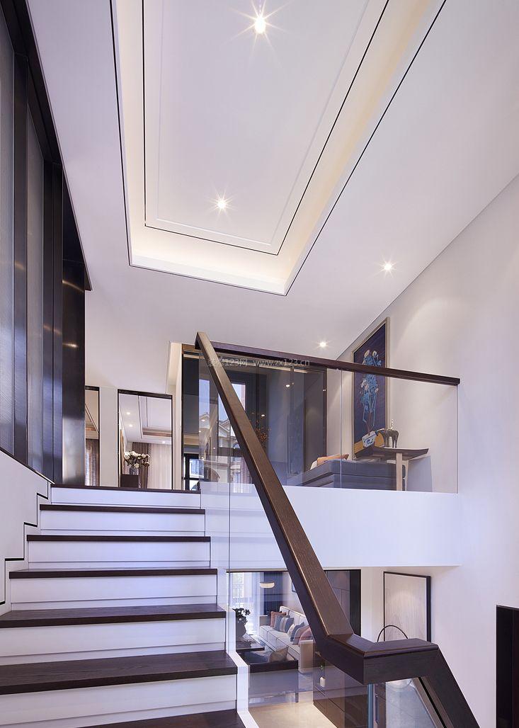 现代新中式风格室内楼梯装修图片