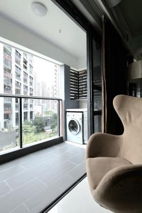 2017现代别墅户型装修设计图阳台洗衣机组合柜装修效果图湾丽图客厅路劲翡家庭图片