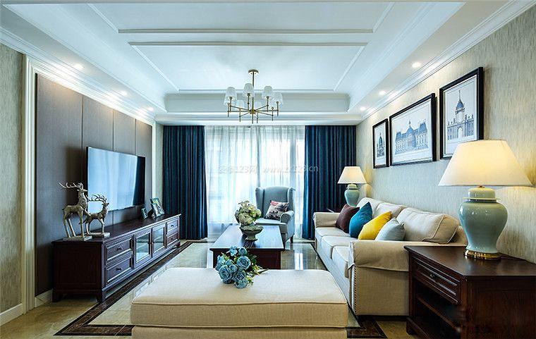 140平米新房简约美式风格装修效果图