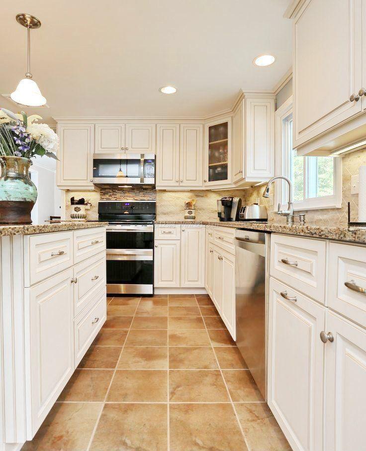 厨房设计地板砖铺设效果图图片
