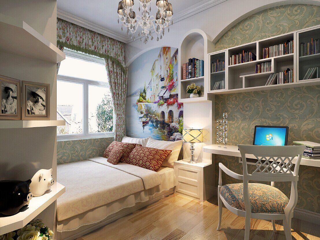 90平米简欧风格小卧室装修图片