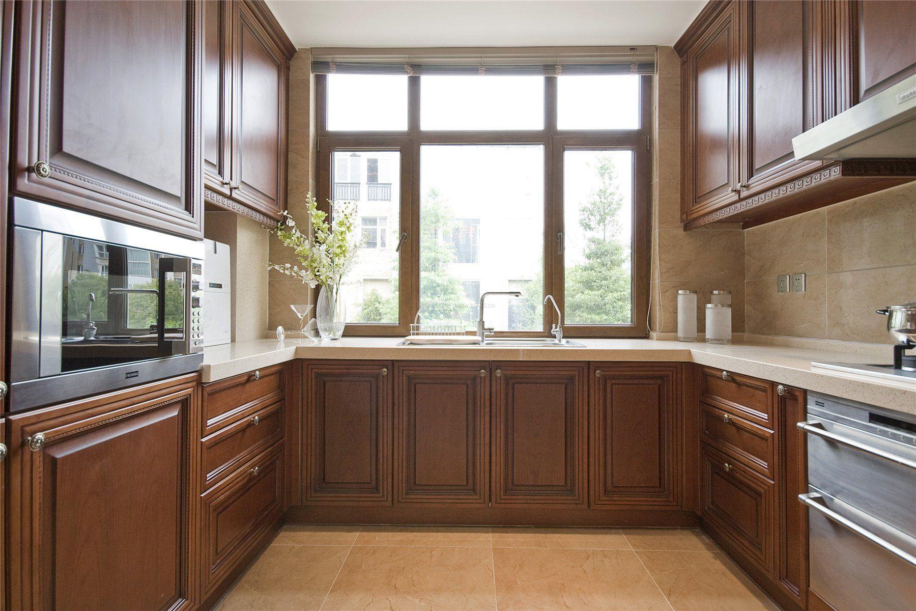 2017美式整体厨房装修效果图大全图片_装修123效果图