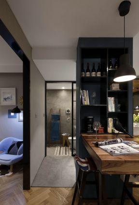 2017现代北欧风格室内酒柜隔断装修效果图片-北欧风格卫生间装修