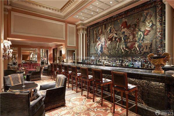 主题酒吧吧台装修设计效果图
