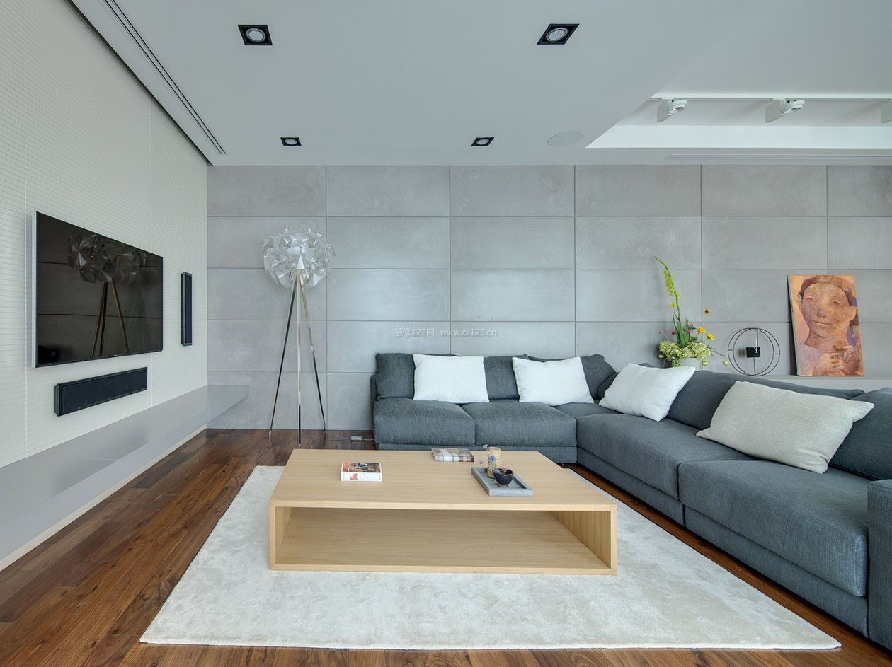 家装效果图 简约 2017漂亮的大客厅简约影视墙装修效果图大全 提供者