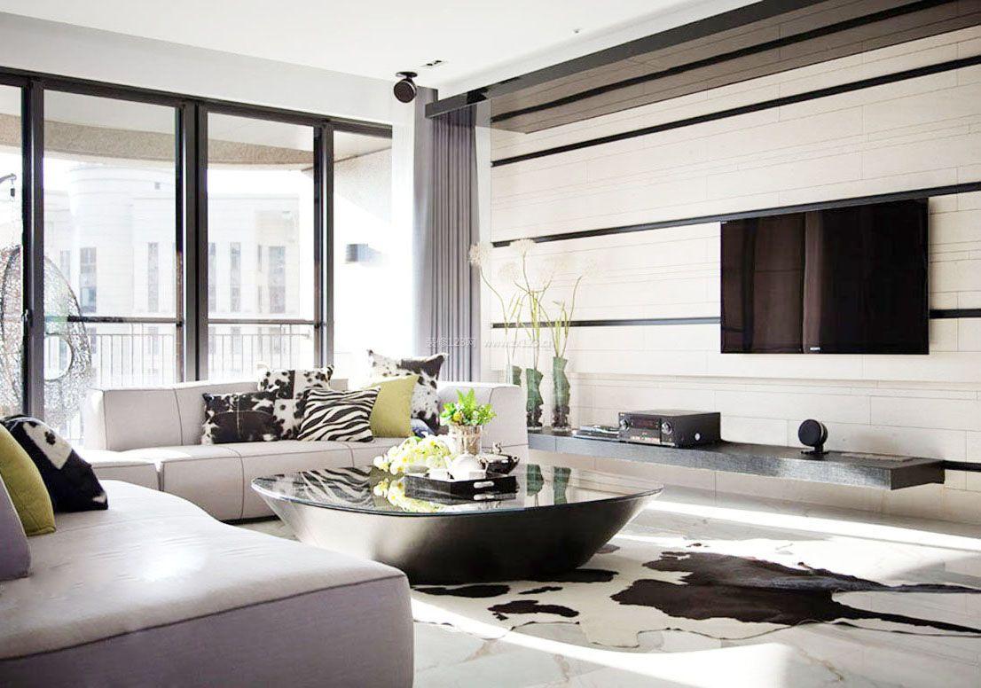 家装效果图 简约 简约时尚客厅影视墙装修效果图大全 提供者:   ←