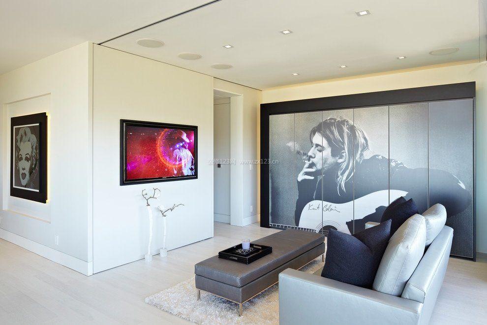 小客厅简约影视墙装修效果图大全