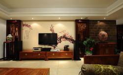 中式简约影视墙壁纸效果贴图大全图片