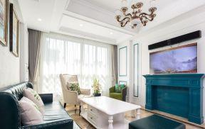 漂亮的客厅窗帘设计效果图片欣赏