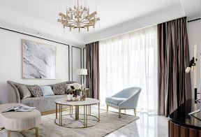 漂亮的客厅窗帘设计图片
